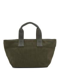 olivgrüne Shopper Tasche aus Segeltuch von N. Hoolywood