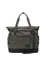 olivgrüne Shopper Tasche aus Segeltuch von Nemen