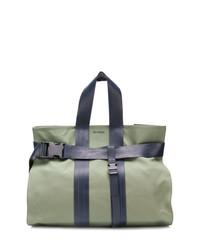 olivgrüne Shopper Tasche aus Segeltuch von Sunnei