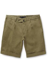 olivgrüne Shorts von Incotex