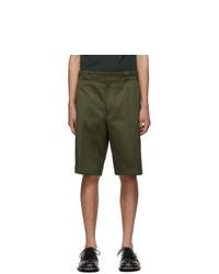 olivgrüne Shorts von Prada