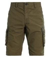 olivgrüne Shorts von Solid