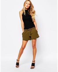 olivgrüne Shorts von Vila