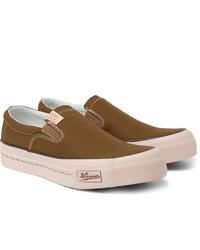 olivgrüne Slip-On Sneakers aus Segeltuch von VISVIM