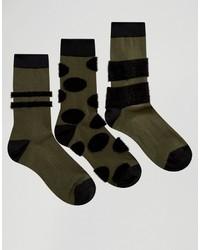 olivgrüne Socken von Asos