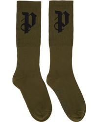 olivgrüne Socken von Palm Angels