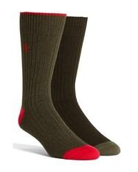 olivgrüne Socken