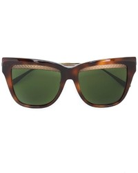 olivgrüne Sonnenbrille von Bottega Veneta