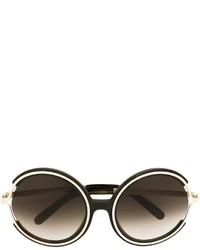 olivgrüne Sonnenbrille von Chloé