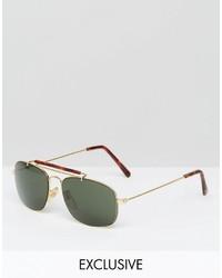 olivgrüne Sonnenbrille von Reclaimed Vintage