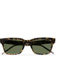 olivgrüne Sonnenbrille von Thom Browne