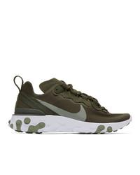 olivgrüne Sportschuhe von Nike