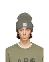 olivgrüne Strick Mütze von A.P.C.