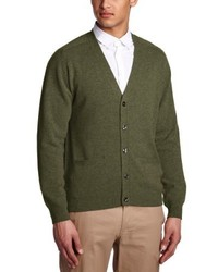 olivgrüne Strickjacke von Alan Paine