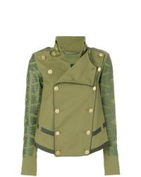 olivgrüne verzierte Militärjacke von Mr & Mrs Italy