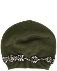 olivgrüne verzierte Mütze von No.21