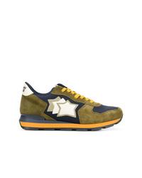 olivgrüne Wildleder niedrige Sneakers von atlantic stars