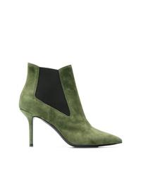 olivgrüne Wildleder Stiefeletten von Premiata