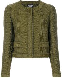 olivgrüne Wolljacke von Moschino
