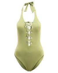 olivgrüner Badeanzug von Seafolly