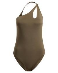 olivgrüner Badeanzug von Zalando Essentials