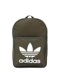 olivgrüner bedruckter Rucksack von adidas