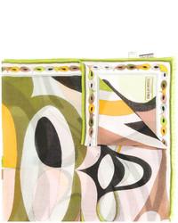 olivgrüner bedruckter Schal von Emilio Pucci