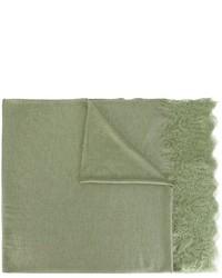olivgrüner bedruckter Schal von Ermanno Scervino