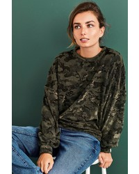 olivgrüner Camouflage Oversize Pullover von NEXT