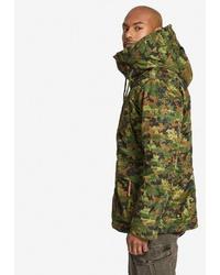 olivgrüner Camouflage Parka von khujo
