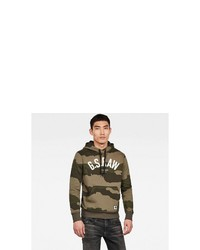olivgrüner Camouflage Pullover mit einem Kapuze von G-Star RAW