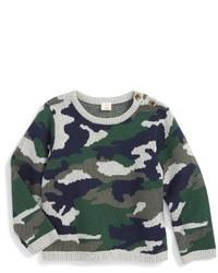 olivgrüner Camouflage Pullover