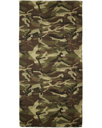 olivgrüner Camouflage Schal von Saint Laurent