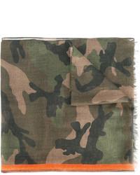 olivgrüner Camouflage Schal von Valentino