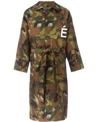 Olivgrüner Camouflage Trenchcoat