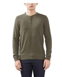 olivgrüner Henley-Pullover von Esprit