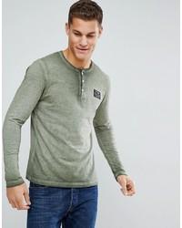 olivgrüner Henley-Pullover von Tom Tailor