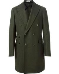 olivgrüner Mantel