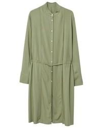 olivgrüner Mantel von Mango