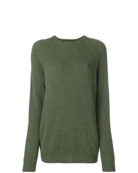 olivgrüner Oversize Pullover von Cristaseya