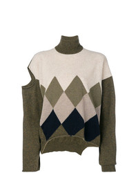 olivgrüner Oversize Pullover von Erika Cavallini