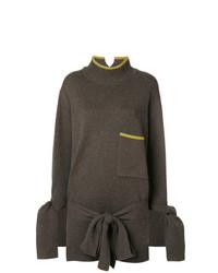 olivgrüner Oversize Pullover von Eudon Choi