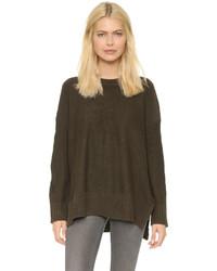 olivgrüner Oversize Pullover von Knot Sisters