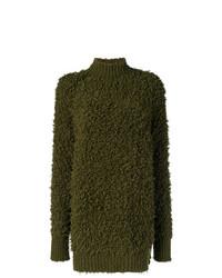 olivgrüner Oversize Pullover von Marni