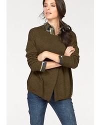 olivgrüner Oversize Pullover von Tamaris