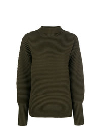 olivgrüner Oversize Pullover von Victoria Victoria Beckham