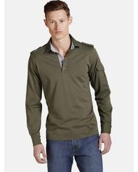 olivgrüner Polo Pullover von Charles Colby