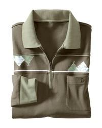 olivgrüner Polo Pullover von CLASSIC BASICS