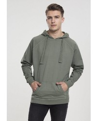 olivgrüner Pullover mit einem Kapuze von Urban Classics