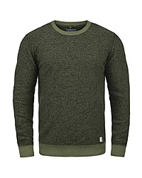 olivgrüner Pullover mit einem Rundhalsausschnitt von BLEND